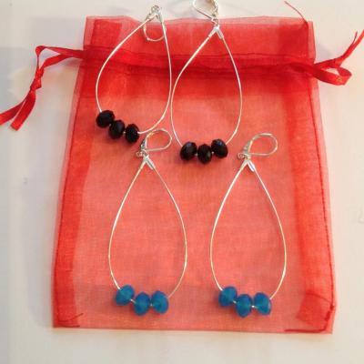 Créoles ovales avec perles à 30€