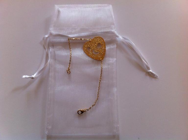 Coeur en plaqué or à 18€