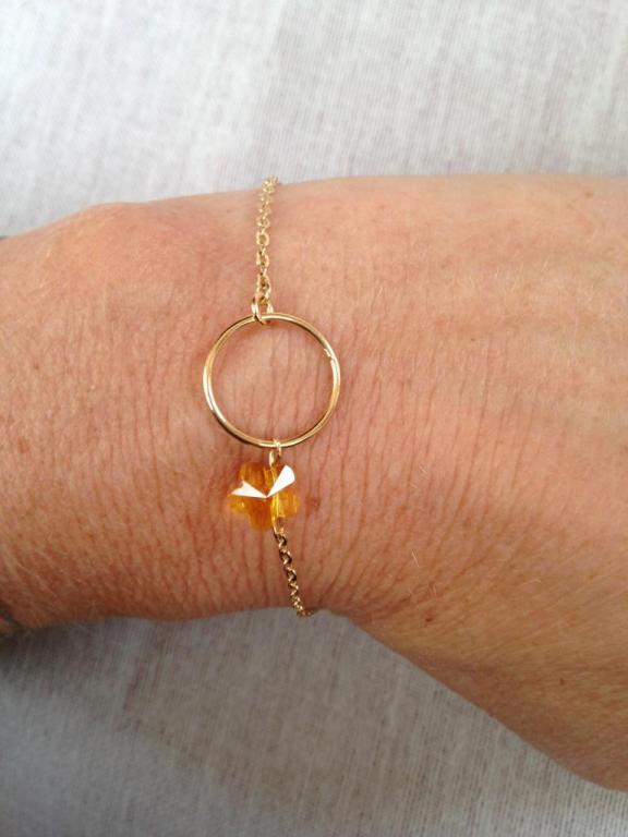 Fleur en cristal de Swarovski et anneau PM à 19€