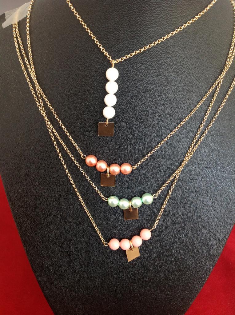 Colliers perles nacrées Swarovski à 27€