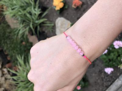 Bracelet lien avec perles en cristal