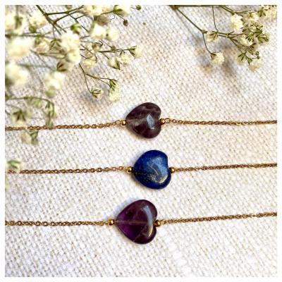 Bracelet plaqué or perle naturelle