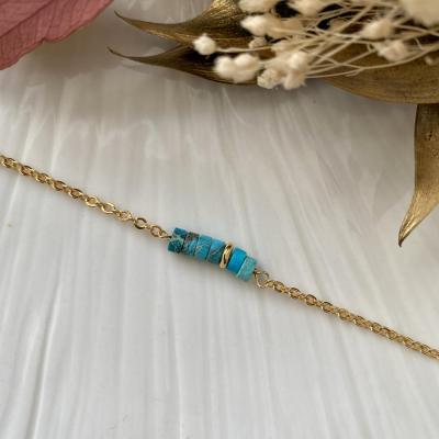 Bracelet perles naturelles heishi