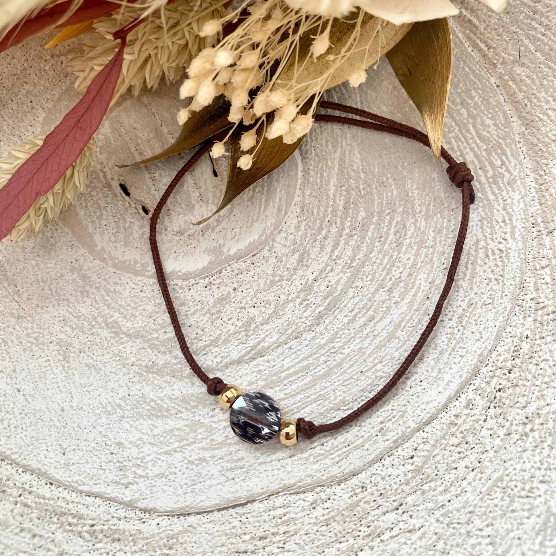 Bracelet lien rond cristal