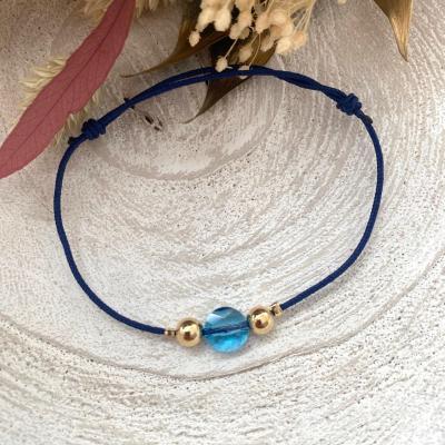Bracelet lien avec rond en cristal