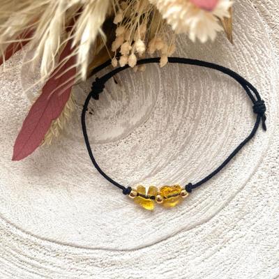 Bracelet lien avec papillons en cristal