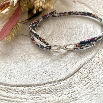 Bracelet cordon liberty intercalaire infini