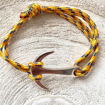 Bracelet ancre de marine et corde de parachute