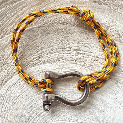 Bracelet manille et corde de parachute