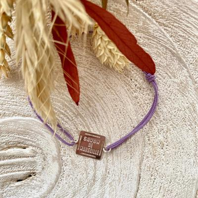 Bracelet cordon et plaque savon de Marseille