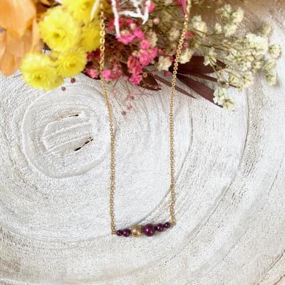 Collier perles nacrées en cristal