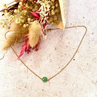 Collier avec pendentif perle naturelle