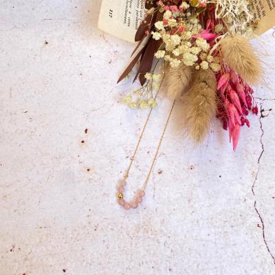 Collier ras-le-cou perles naturelles et mini perle plaqué or