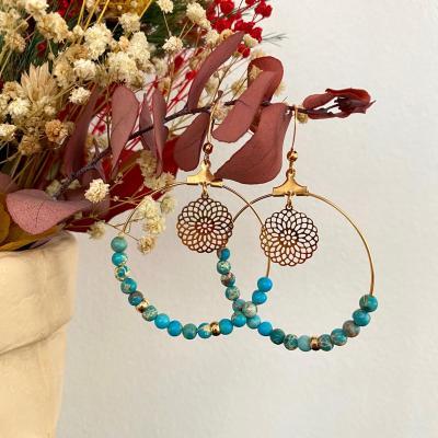 Créoles perles naturelles