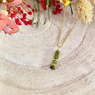 Collier perles naturelles heishi