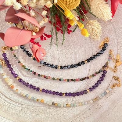Bracelet avec perles naturelles