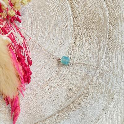Bracelet cordon et cube en cristal