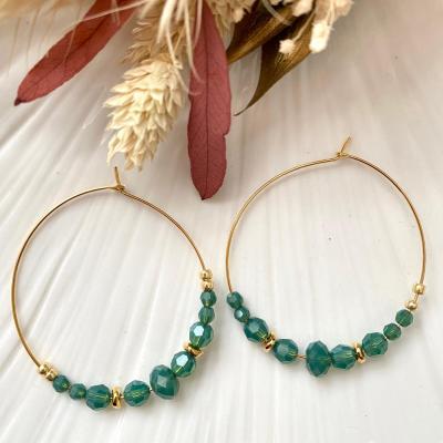 Créoles avec perles en cristal